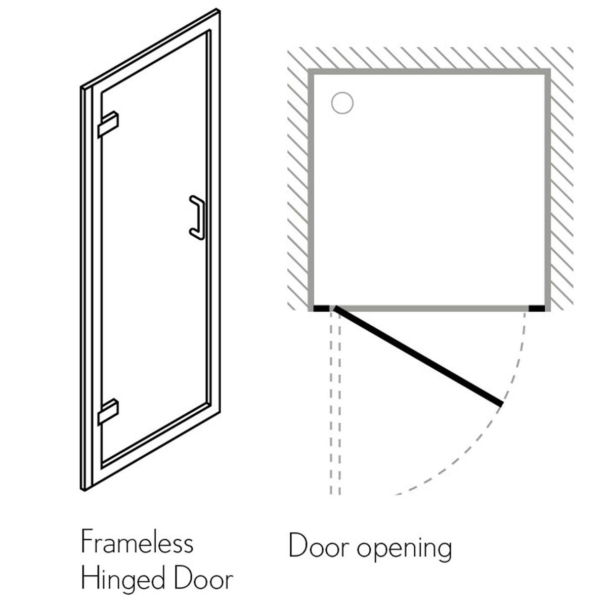 Simpsons Classic 900mm Hinged Shower Door 6107 Spare